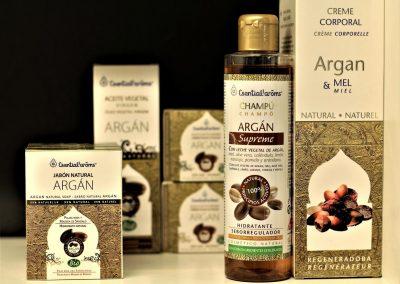 Cosmética con aceite de argán
